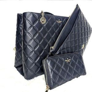 kate spade 3 Set Designer Bag Wallet Pouch NWT